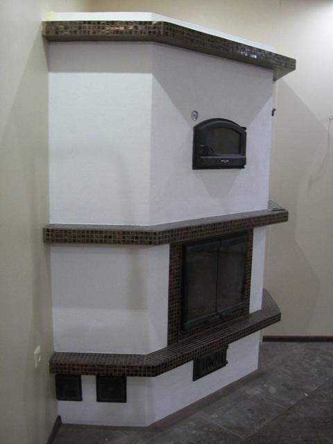 Отопительный камин с хлебной камерой