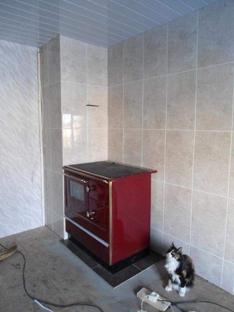 Металлическая отопительно-варочная печь.