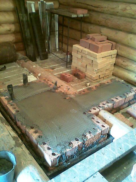 фундамент пол печь