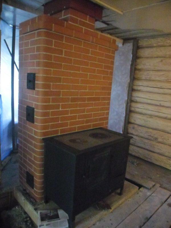 Печь в каркасном доме своими руками фото 16