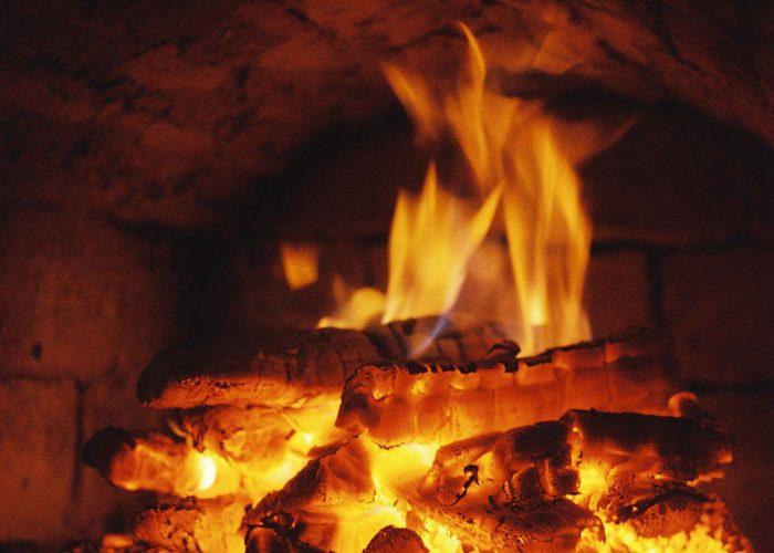 горение в печи