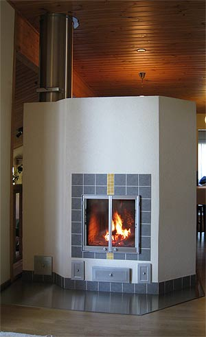 Отопление камином дровяным