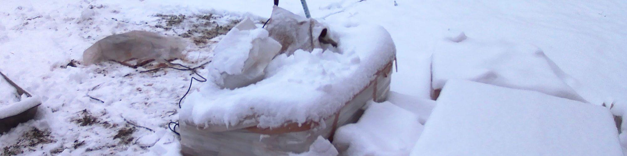 Стройка печи зимой.