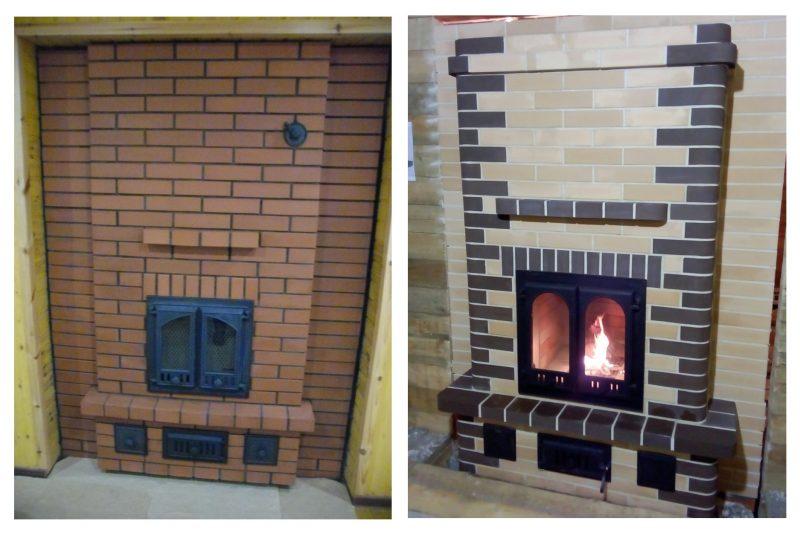 Печь в деревянном доме.