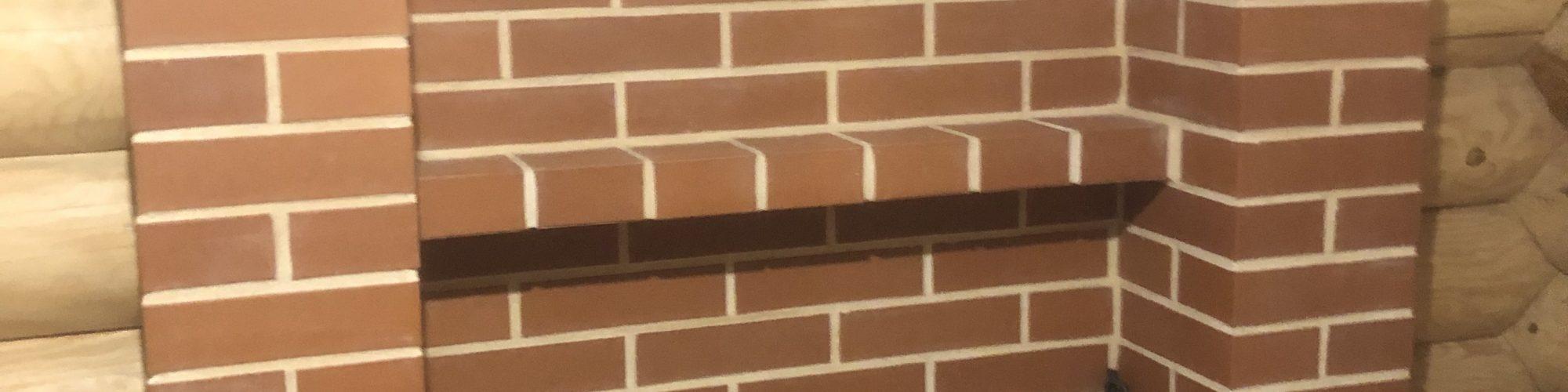 Печь Везувий через стену.